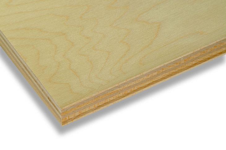 A close up of a Euro Birch flat dieboard